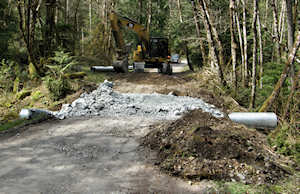 Fixing high risk road culvert